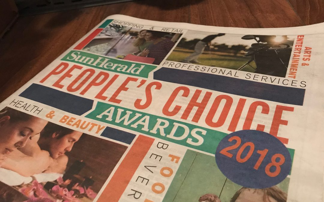 Rhythm & Rain awarded 3rd place in People's Choice Awards!